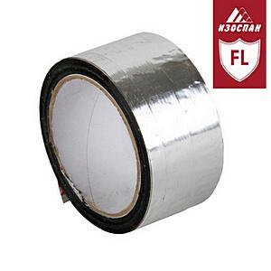 Односторонний металлизированный строительный скотч Изоспан FL