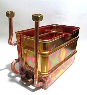 Теплообменник газовой колонки ГВС