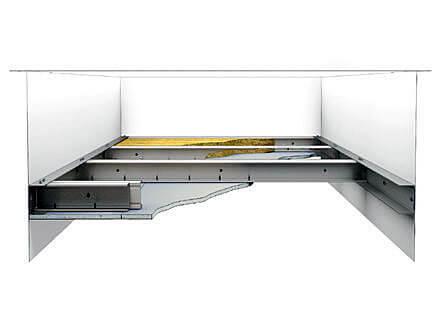 Звук- шумоизоляция потолка самонесущий каркас из металлопрофиля