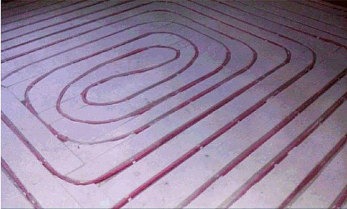 Водяной теплый пол без бетонной стяжки в деревянном доме