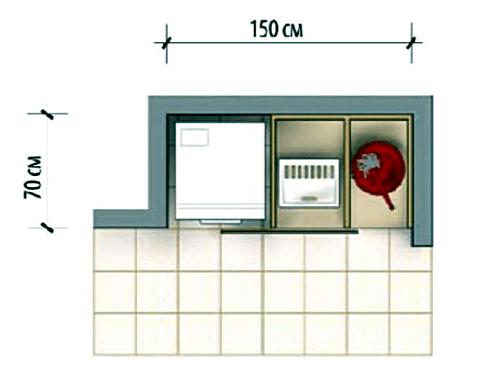 Ниша для стиральной машины и бытовой техники