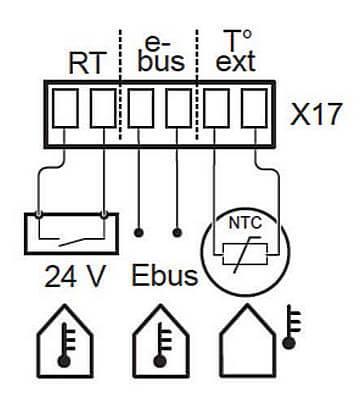 Схема подключения комнатного термостата к газовому котлу Protherm