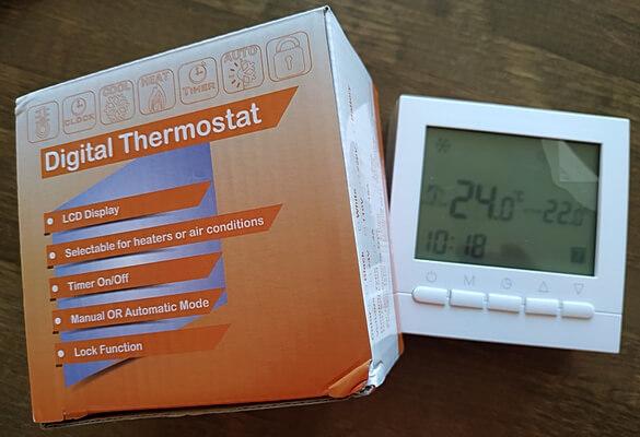 Комнатный термостат программируемый с Алиэкспресс с упаковкой