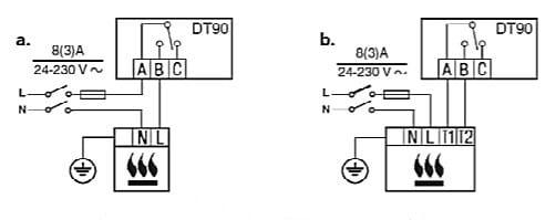 Электрическая схема подключения комнатного термостата к газовому котлу