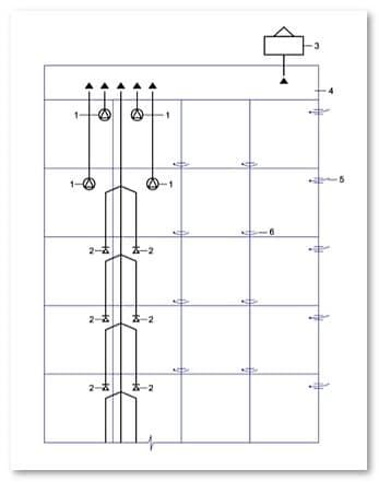 Схема вентиляции многоквартирного дома с теплым чердаком