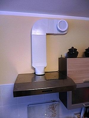 Подключение кухонной вытяжки к вентиляционному каналу на кухне