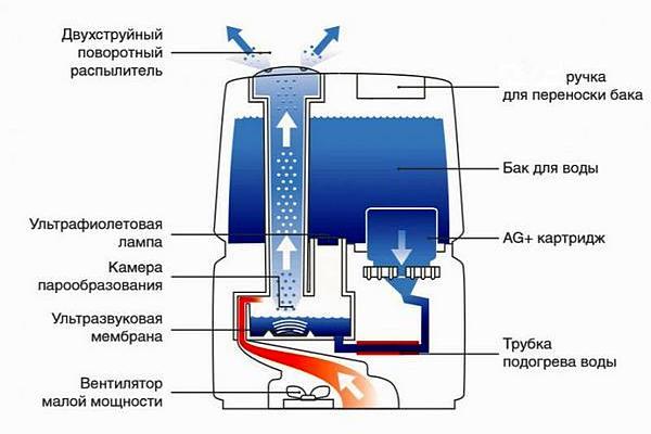 Увлажнитель ультразвуковой устройство и принцип работыра